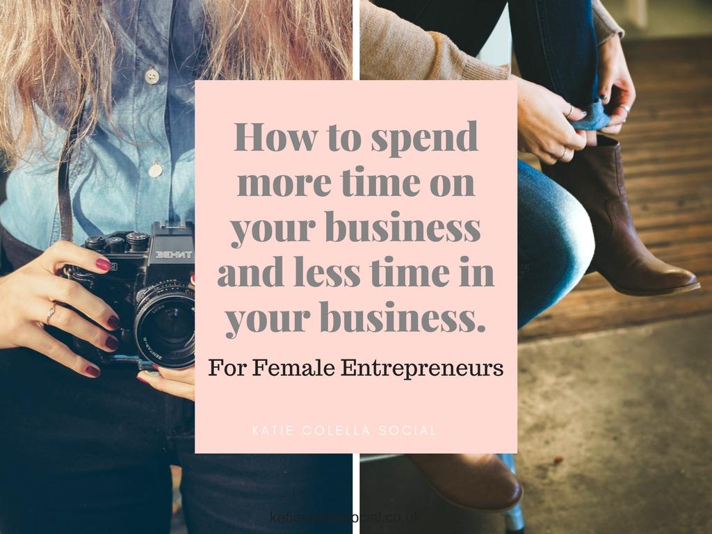 katie colella social, social media, virtual assistant, spend time on your business, female entrepreneur